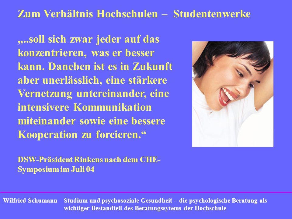 Studium und psychosoziale Gesundheit – die psychologische Beratung als wichtiger Bestandteil des Beratungssytems der Hochschule Wilfried Schumann Zum