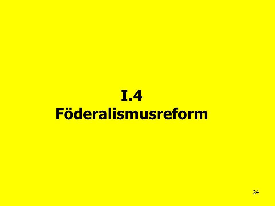 34 I.4 Föderalismusreform