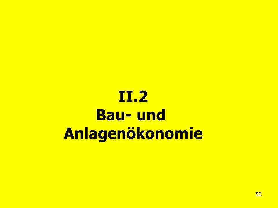 52 II.2 Bau- und Anlagenökonomie