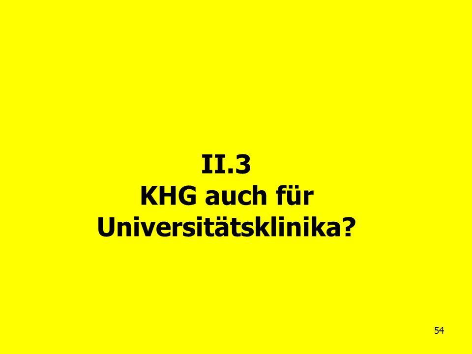 54 II.3 KHG auch für Universitätsklinika?