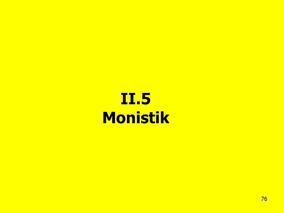 76 II.5 Monistik