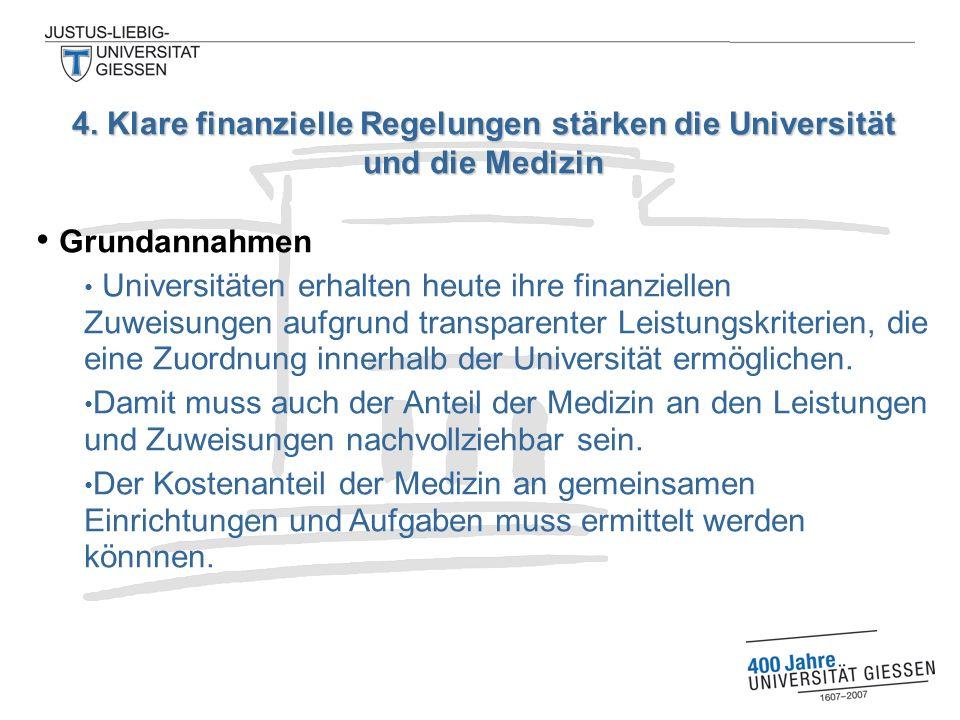 Grundannahmen Universitäten erhalten heute ihre finanziellen Zuweisungen aufgrund transparenter Leistungskriterien, die eine Zuordnung innerhalb der Universität ermöglichen.