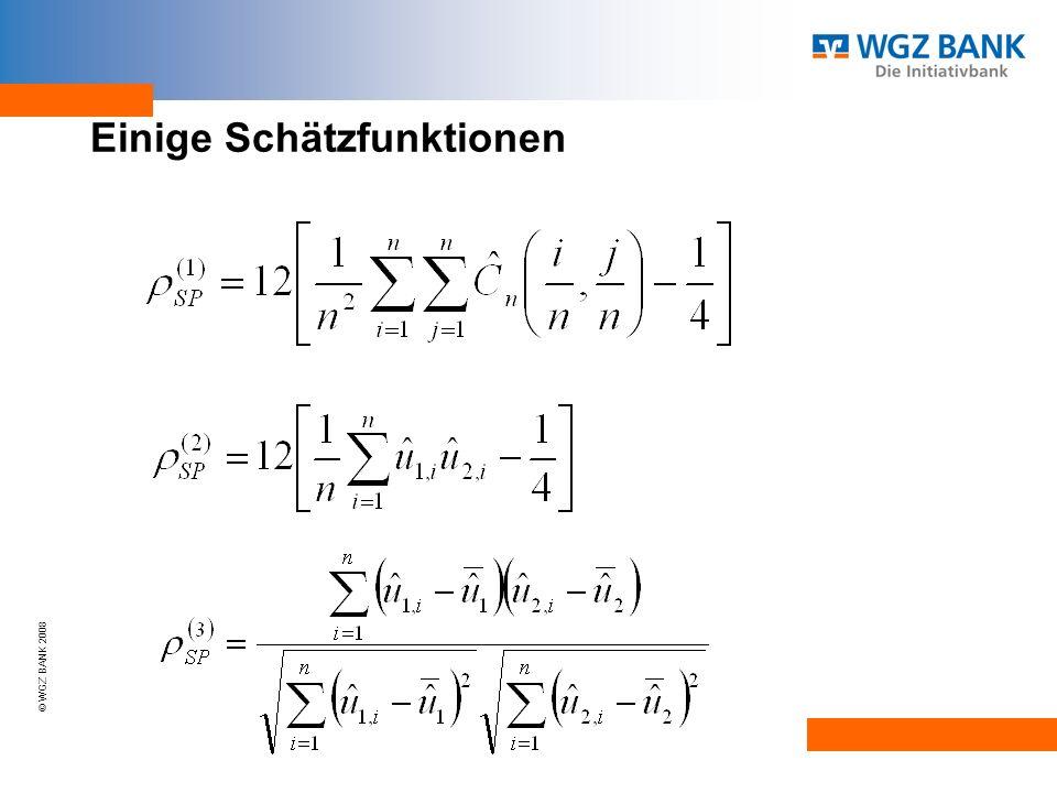© WGZ BANK 2008 Einige Schätzfunktionen