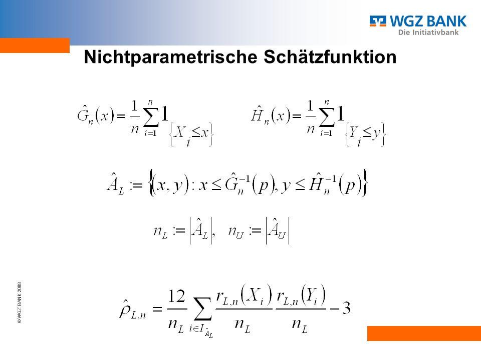 © WGZ BANK 2008 Nichtparametrische Schätzfunktion