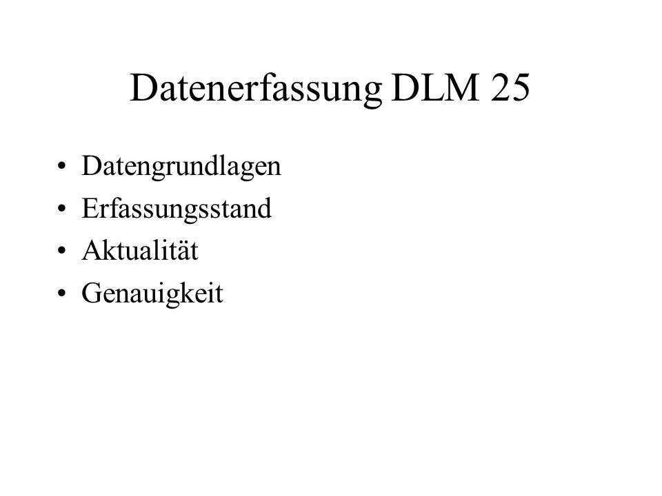 Datenerfassung DLM 25 Datengrundlagen Erfassungsstand Aktualität Genauigkeit