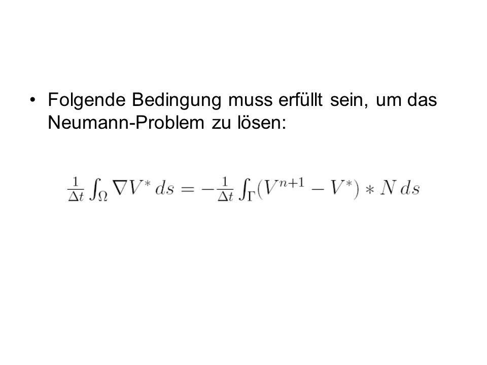 Folgende Bedingung muss erfüllt sein, um das Neumann-Problem zu lösen: