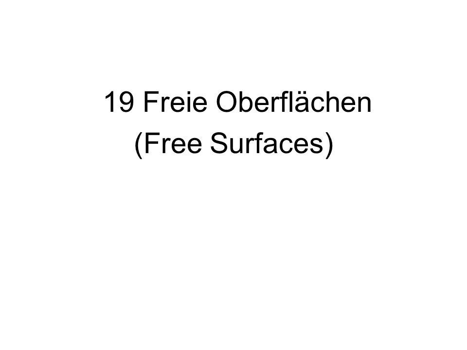 19 Freie Oberflächen (Free Surfaces)