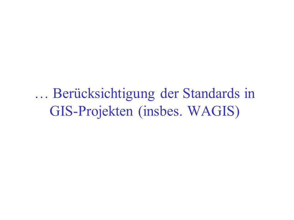 Entwicklung und Test OpenGIS- konformer Software OpenGIS Project Document 98-002R3, Release Date: September 22, 1998 Fest vorgeschriebenes Verfahren!