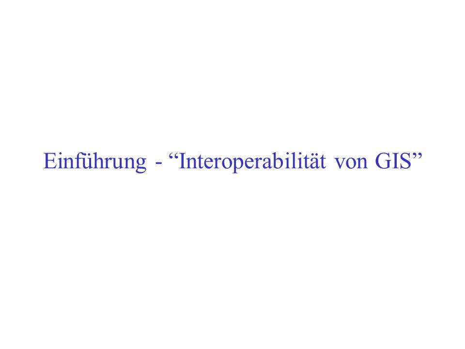 Ein (kurzer) Exkurs Neue Disziplin: Geoinformatik Erstes Institut:...für Geoinformatik der Universität Münster (http://ifgi.uni-muenster.de) Bisher: D