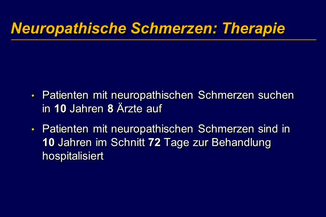 Neuropathische Schmerzen: Therapie Patienten mit neuropathischen Schmerzen suchen in 10 Jahren 8 Ärzte auf Patienten mit neuropathischen Schmerzen sin