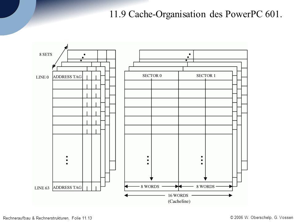 © 2006 W. Oberschelp, G. Vossen Rechneraufbau & Rechnerstrukturen, Folie 11.13 11.9 Cache-Organisation des PowerPC 601.