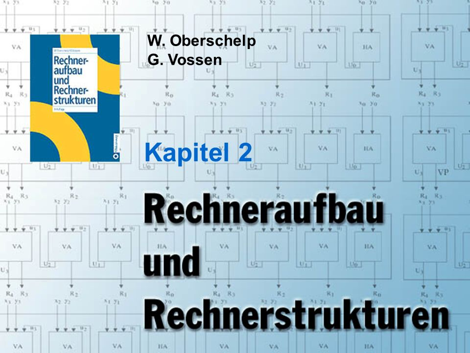 Rechneraufbau & Rechnerstrukturen, Folie 2.1 © W. Oberschelp, G. Vossen W. Oberschelp G. Vossen Kapitel 2