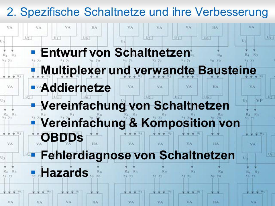 Rechneraufbau & Rechnerstrukturen, Folie 2.2 © W. Oberschelp, G. Vossen 2. Spezifische Schaltnetze und ihre Verbesserung Entwurf von Schaltnetzen Mult