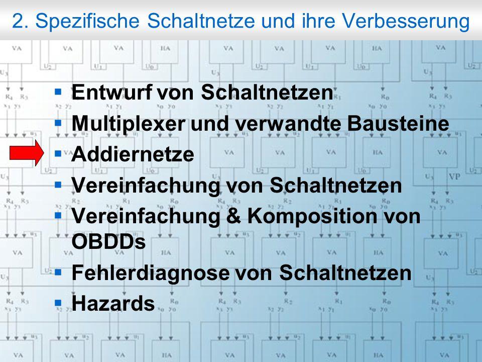 Rechneraufbau & Rechnerstrukturen, Folie 2.45 © W. Oberschelp, G. Vossen 2. Spezifische Schaltnetze und ihre Verbesserung Entwurf von Schaltnetzen Mul