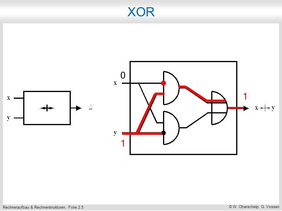 Rechneraufbau & Rechnerstrukturen, Folie 2.5 © W. Oberschelp, G. Vossen XOR 1 0 1