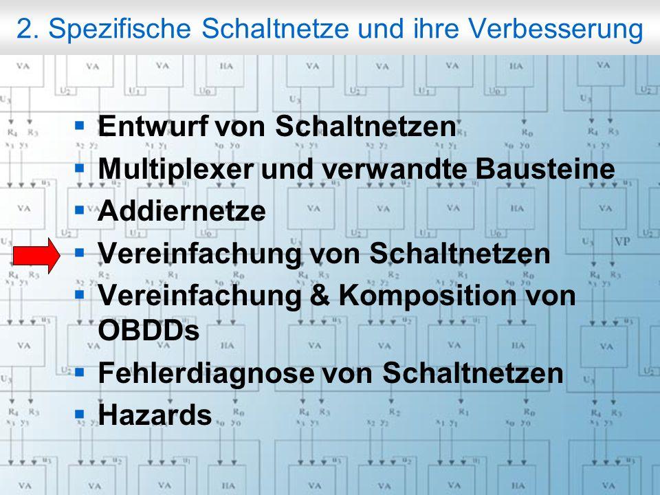 Rechneraufbau & Rechnerstrukturen, Folie 2.58 © W. Oberschelp, G. Vossen 2. Spezifische Schaltnetze und ihre Verbesserung Entwurf von Schaltnetzen Mul
