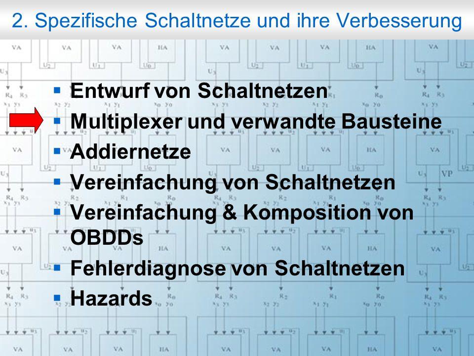 Rechneraufbau & Rechnerstrukturen, Folie 2.7 © W. Oberschelp, G. Vossen 2. Spezifische Schaltnetze und ihre Verbesserung Entwurf von Schaltnetzen Mult