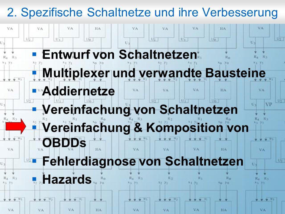 Rechneraufbau & Rechnerstrukturen, Folie 2.70 © W. Oberschelp, G. Vossen 2. Spezifische Schaltnetze und ihre Verbesserung Entwurf von Schaltnetzen Mul