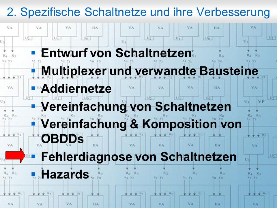 Rechneraufbau & Rechnerstrukturen, Folie 2.83 © W. Oberschelp, G. Vossen 2. Spezifische Schaltnetze und ihre Verbesserung Entwurf von Schaltnetzen Mul