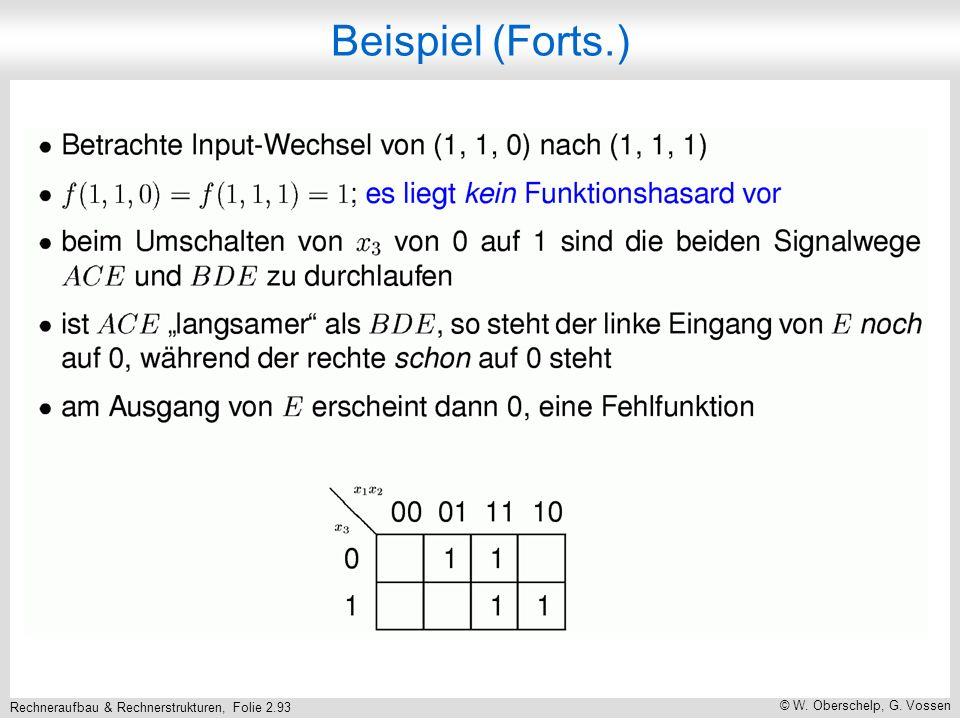 Rechneraufbau & Rechnerstrukturen, Folie 2.93 © W. Oberschelp, G. Vossen Beispiel (Forts.)