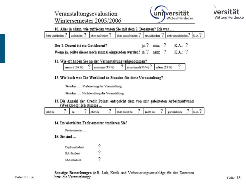 Peter KallienDienst- und Arbeitsrecht der Professoren Folie 15