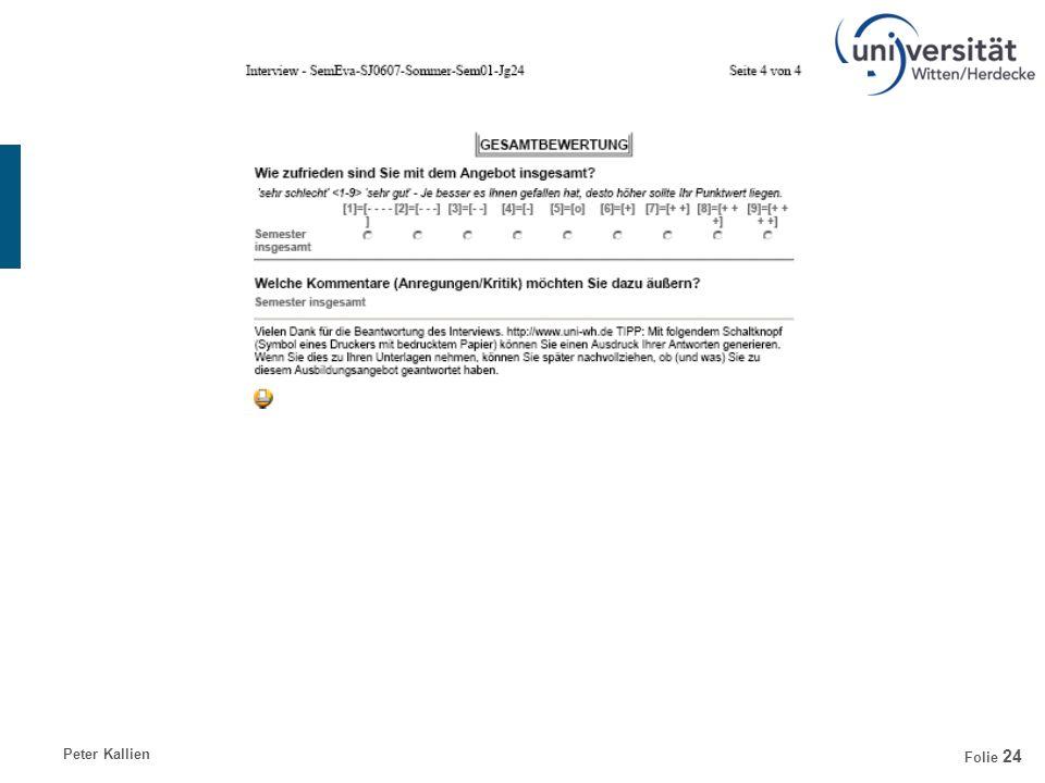 Peter KallienDienst- und Arbeitsrecht der Professoren Folie 24