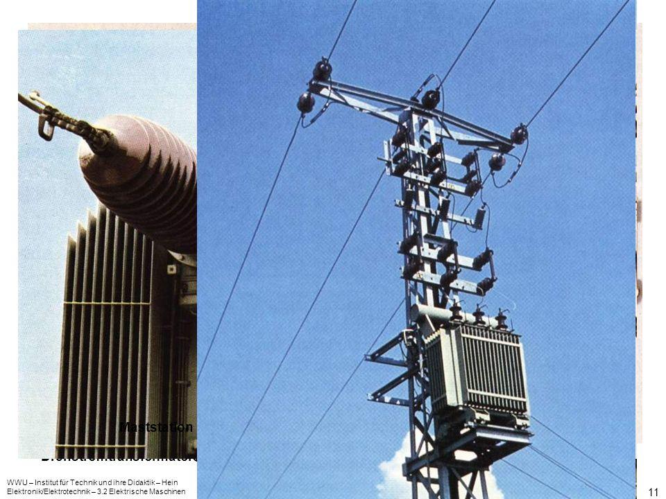 WWU – Institut für Technik und ihre Didaktik – Hein Elektronik/Elektrotechnik – 3.2 Elektrische Maschinen 11 Drehstromtransformator – praktische Ausfü