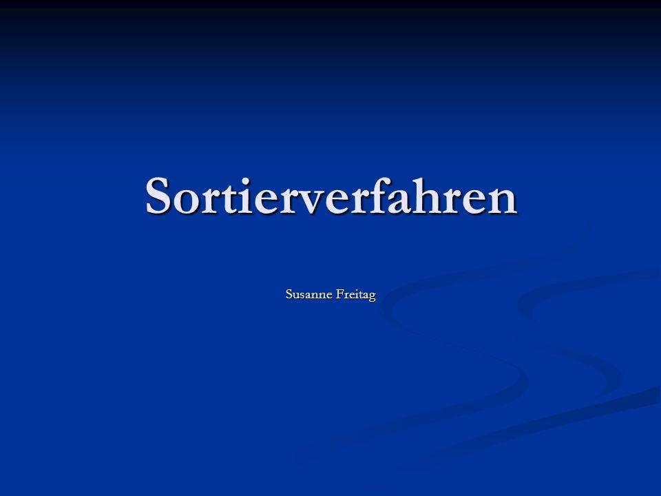 Sortierverfahren Susanne Freitag