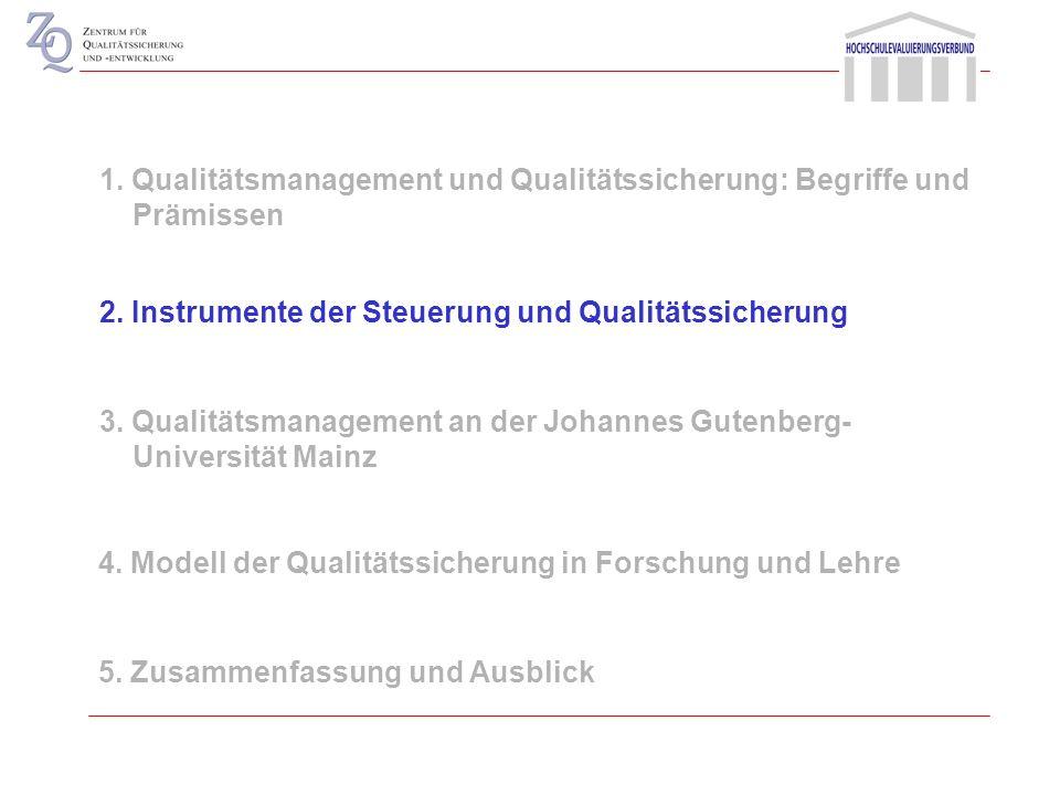 Transparenz über die Reichweite von Qualitätssicherungssystemen Definition von Qualität und Bewertungsmaßstäben Herstellung eines Verständnisses über