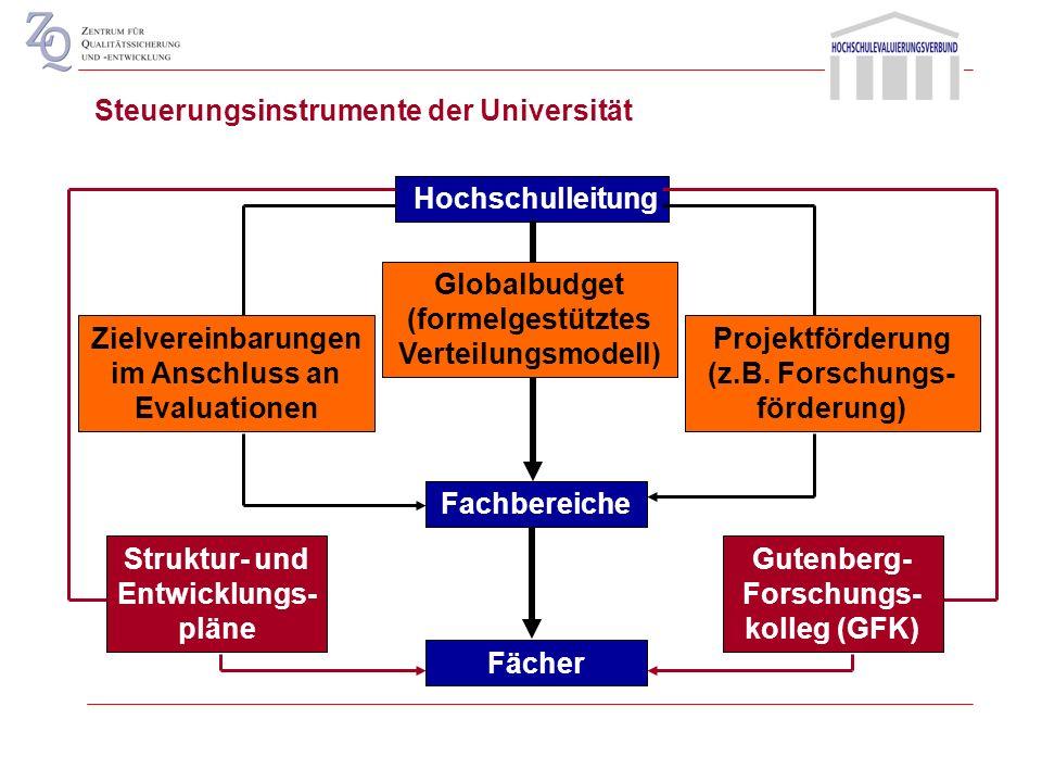 Kennzahlen mit Forschungsbezug Drittmittel Habilitationen Promotionen Sonderforschungsbereiche Graduiertenkollegs Steuerungsinstrumente des Landes
