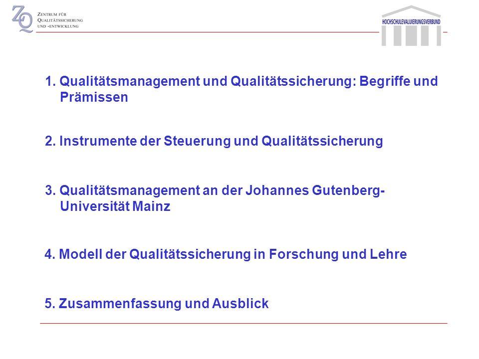 Qualitätsmanagement: Spannungsfeld zwischen Hochschulsteuerung und Qualitätssicherung (Dr. Uwe Schmidt) Ulm 2008