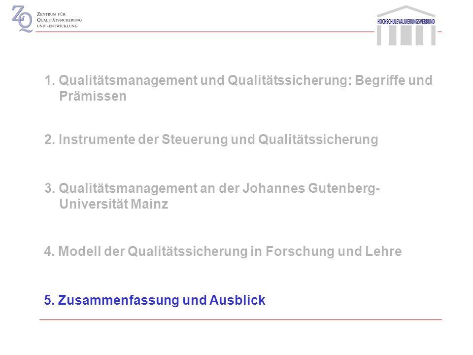 Studium und Lehre ForschungWissenschafts- management Felder und Ebenen der Qualitätssicherung Strukturqualität +++ Prozessqualität ++? Ergebnisqualitä