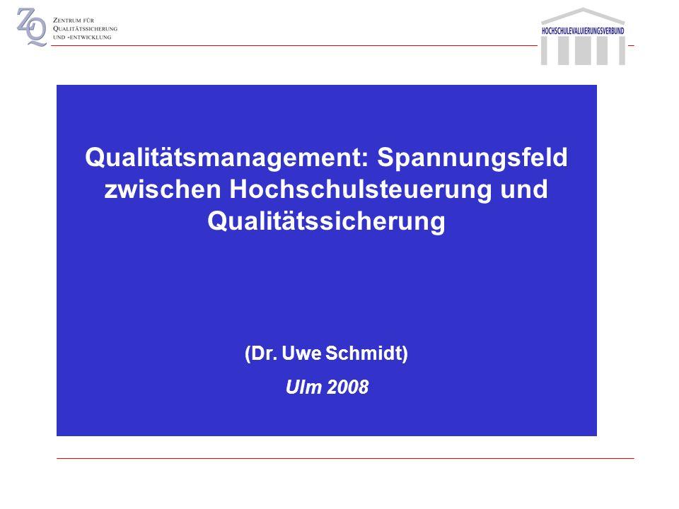 Prämissen des Mainzer Modells Qualität als relatives Gleichgewicht hinsichtlich der Erfüllung unterschiedlicher Systemfunktionen Problem fehlender Ana