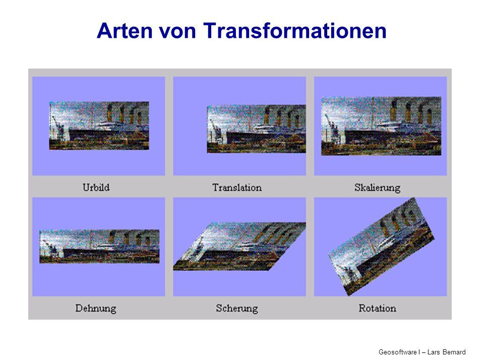 Geosoftware I – Lars Bernard Arten von Transformationen