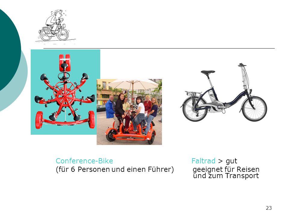 23 Conference-Bike Faltrad > gut (für 6 Personen und einen Führer) geeignet für Reisen und zum Transport