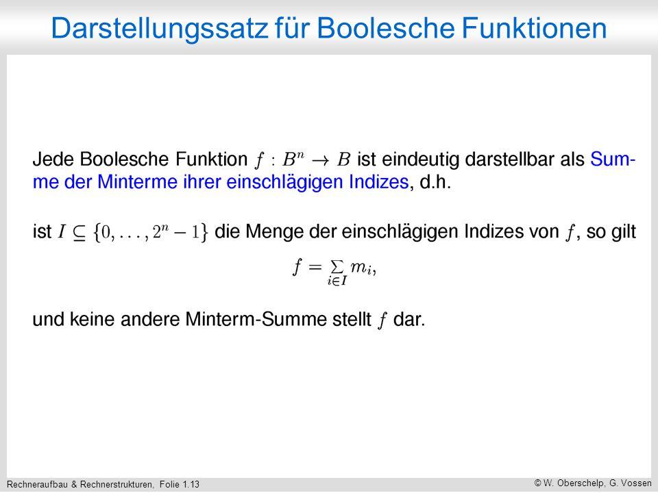 Rechneraufbau & Rechnerstrukturen, Folie 1.14 © W. Oberschelp, G. Vossen Beispiel (Forts.)