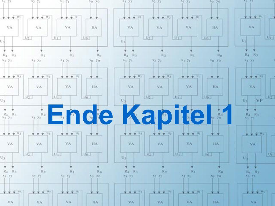 Rechneraufbau & Rechnerstrukturen, Folie 1.24 © W. Oberschelp, G. Vossen Ende Kapitel 1