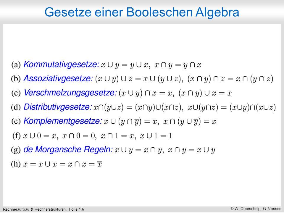 Rechneraufbau & Rechnerstrukturen, Folie 1.7 © W. Oberschelp, G. Vossen Schaltfunktionen