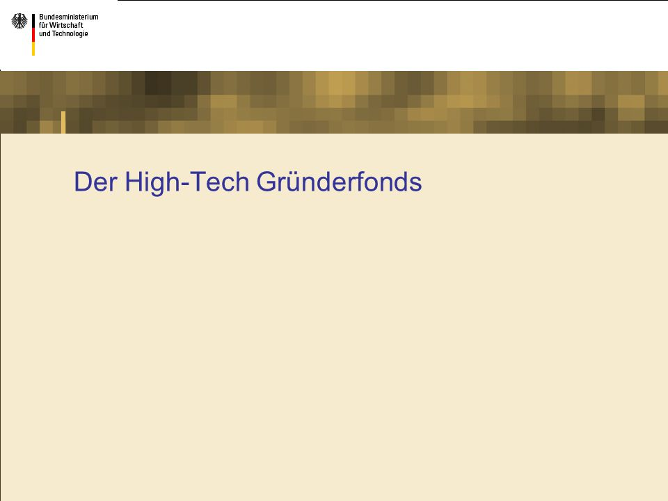 Der High-Tech Gründerfonds