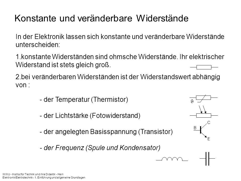 WWU - Institut für Technik und ihre Didaktik - Hein Elektronik/Elektrotechnik - 1. Einführung und allgemeine Grundlagen 10 U ges U R3 U R1 U R2 U R1 U