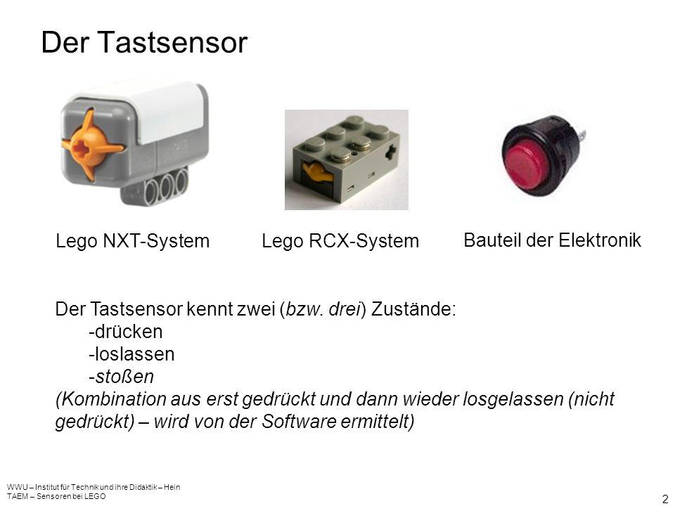 Die (neuen) Sensoren des Lego Mindstorms NXT Systems WWU – Institut für Technik und ihre Didaktik – Hein TAEM – Sensoren bei LEGO 1