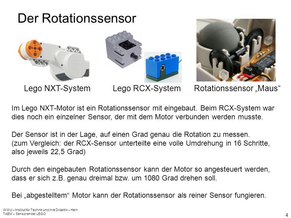 Der Lichtsensor WWU – Institut für Technik und ihre Didaktik – Hein TAEM – Sensoren bei LEGO 3 Lego NXT-SystemLego RCX-System Bauteil der Elektronik D