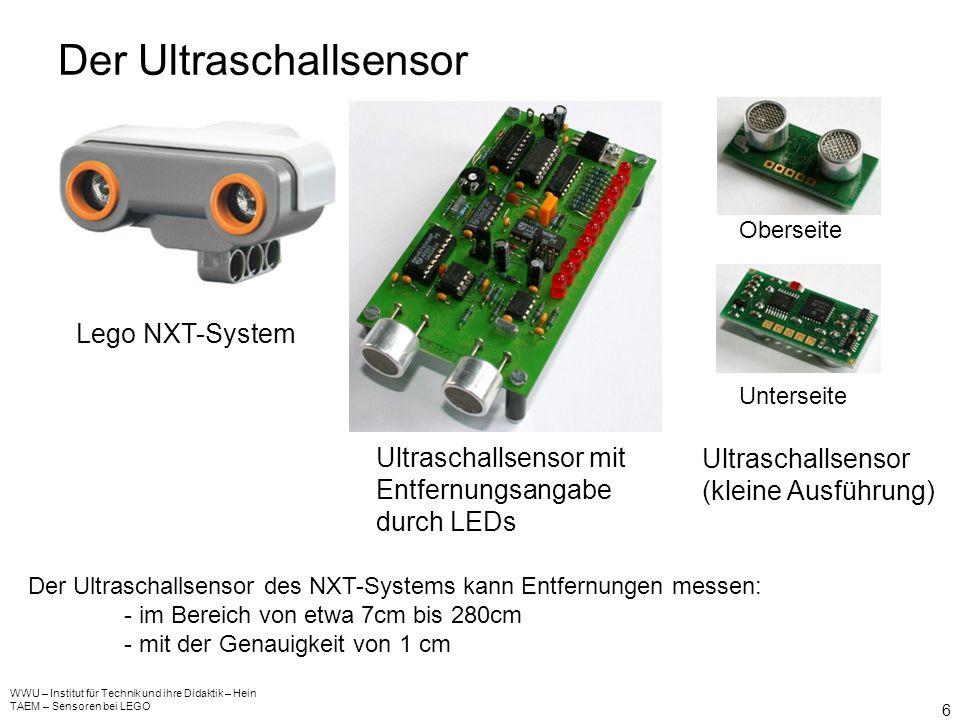 Das Mikrofon (Schallsensor) WWU – Institut für Technik und ihre Didaktik – Hein TAEM – Sensoren bei LEGO 5 Lego NXT-SystemBauteil der Elektronik Das v