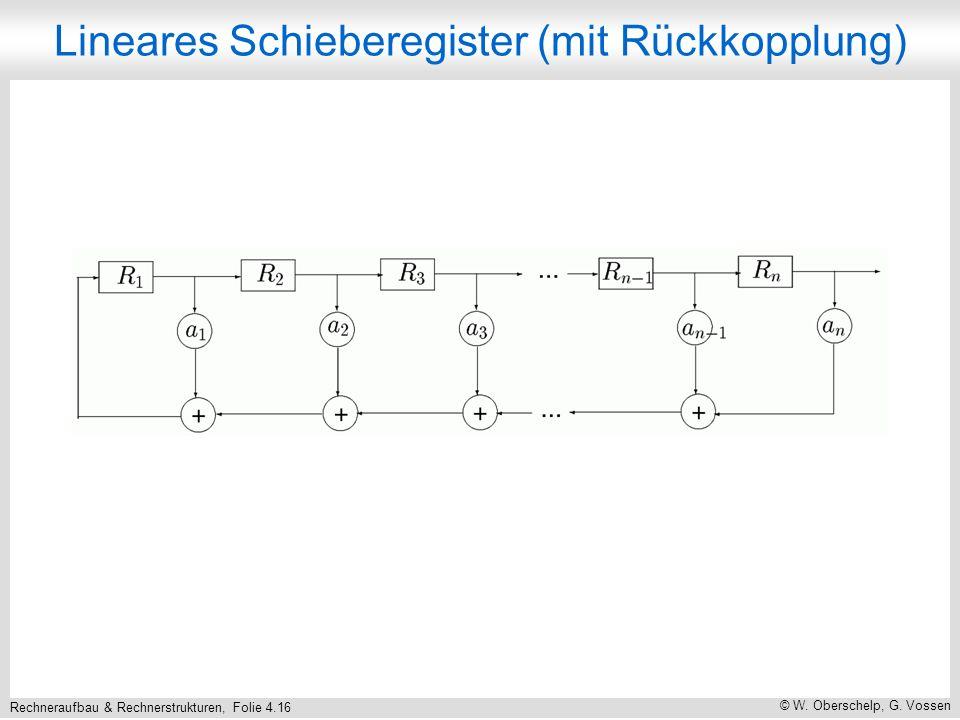 Rechneraufbau & Rechnerstrukturen, Folie 4.16 © W.