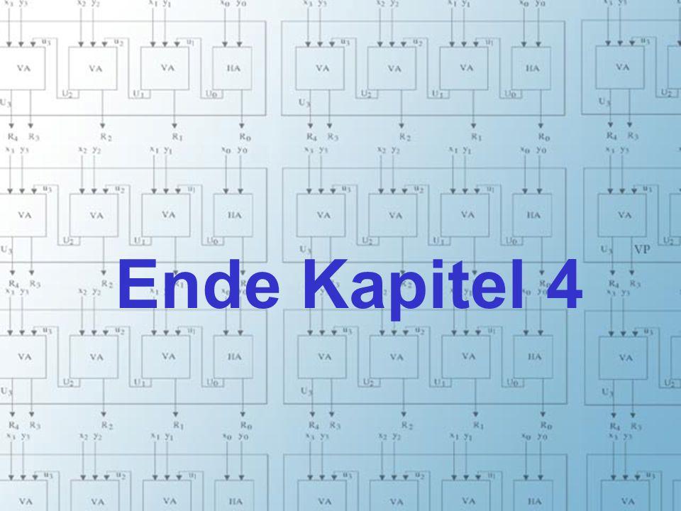 Rechneraufbau & Rechnerstrukturen, Folie 4.23 © W. Oberschelp, G. Vossen Ende Kapitel 4