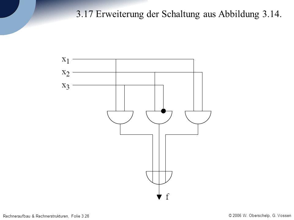 Rechneraufbau & Rechnerstrukturen, Folie 3.28 © 2006 W. Oberschelp, G. Vossen 3.17 Erweiterung der Schaltung aus Abbildung 3.14.