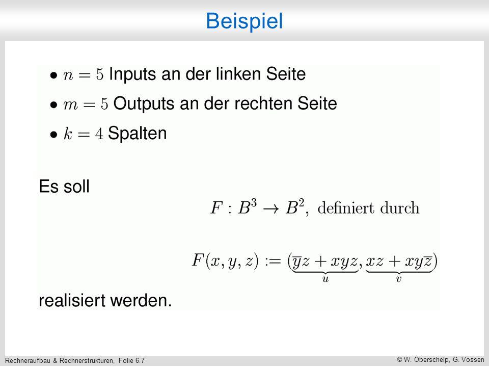 Rechneraufbau & Rechnerstrukturen, Folie 6.7 © W. Oberschelp, G. Vossen Beispiel