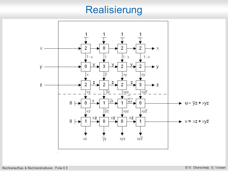 Rechneraufbau & Rechnerstrukturen, Folie 6.9 © W. Oberschelp, G. Vossen Realisierung