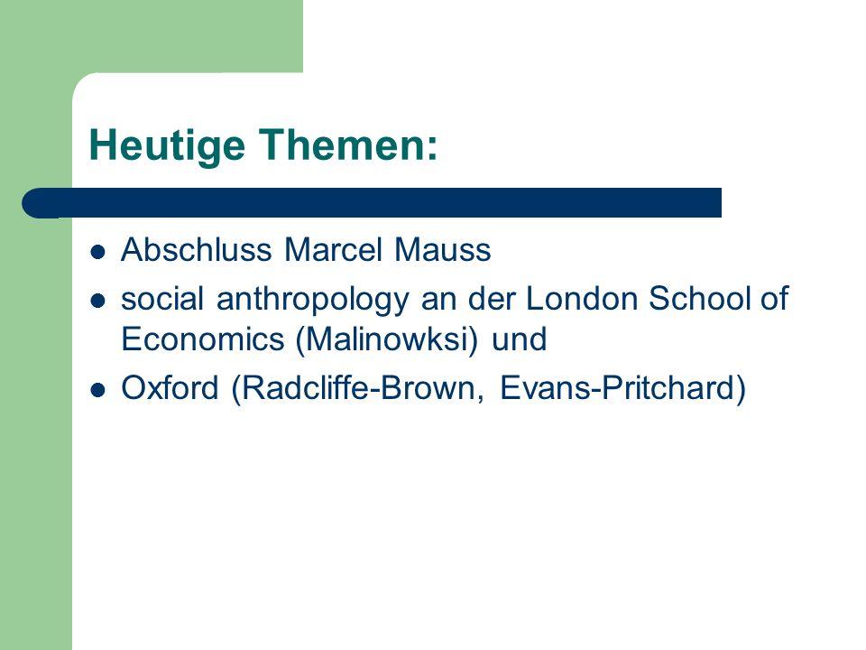 Radcliffe-Browns Konzepte: Sozialer Prozess Kultur soziales System soziale Struktur Institution soziale Funktion
