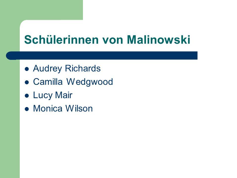 Der Kreis um Malinowski in den 1920er Jahren: Firth, Raymond (1936).